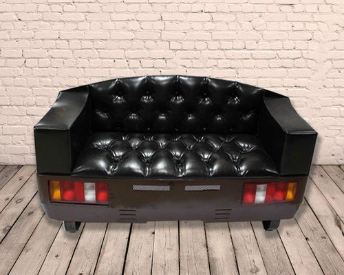 Retro Style PU Leather Double Rear End Car Sofa